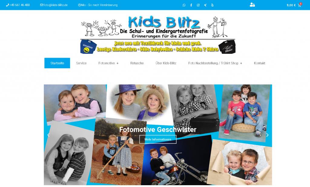 Onlineshop mit Webseite erstellen durch Medienservice24 org Bsp Kids-Blitz.de