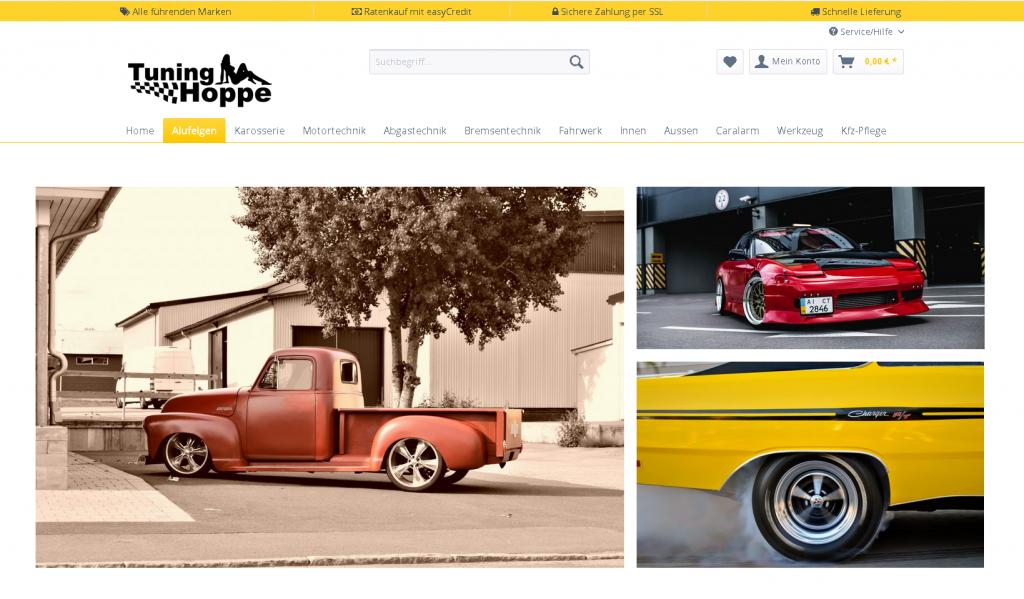 Tuning-Hoppe Onlineshop Portfolio Medienservice24